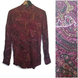 Lauren Ralph Lauren purple Paisley print tunic top